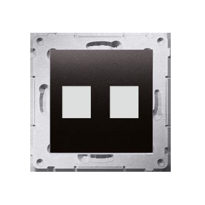 Abdeckung für Telefon- und Datensteckdose (Modul) 2fach auf Keystone anthrazit DKP2.01/48