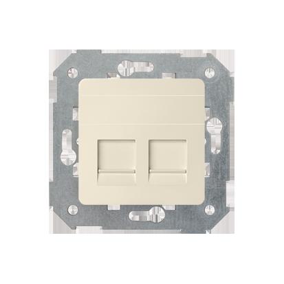Abdeckung für UAE- Dose RJ45 2fach beige matt Kontakt Simon 82 82006-31