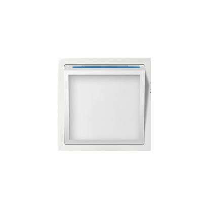 Abdeckung für beleuchtetes Modul LED weiß glänzend Kontakt Simon 82 82036-30