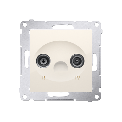 Antennendose R-TV Durchgangsdose 10dB cremeweiß matt Simon 54 Premium Kontakt Simon DAP10.01/41