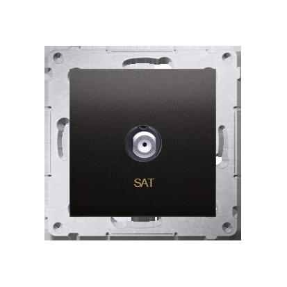 Antennendose SAT Einsatz anthrazit matt Simon 54 Premium Kontakt Simon DASF1.01/48