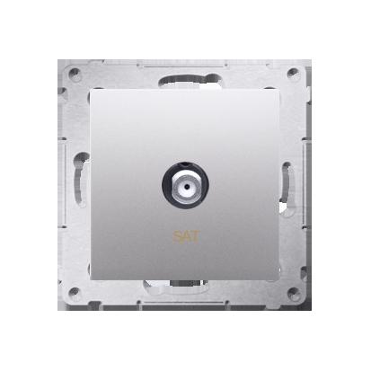 Antennendose SAT Einsatz silber matt Simon 54 Premium Kontakt Simon DASF1.01/43