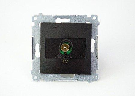Antennendose TV Einsatz anthrazit matt  Simon 54 Premium Kontakt Simon DAK1.01/48