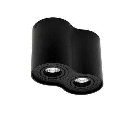 Aufbaustrahler Aufbauleuchte SKAND 2 BLACK 2xGU10 Deckenleuchte rund schwarz doppelt EDO777104 EDO