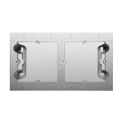 Aufputz- Gehäuse silber matt 2fach Simon 54 Premium Kontakt Simon DPN2/43