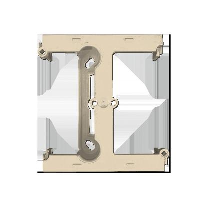 Aufputz- Gehäuse tief (40mm)  mit Erweiterungmodul für Rahmen 1fach  beige Kontakt Simon PSH/12