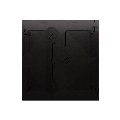 Aufputz- Gehäuse tief (40mm) mit Erweiterungselement für Mehrfach- Rahmen anthrazit matt DSH/48