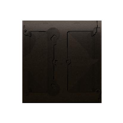 Aufputz- Gehäuse tief (40mm) mit Erweiterungselement für Mehrfach- Rahmen braun matt DSH/46