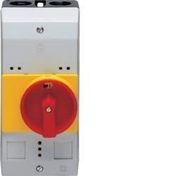 Aufputzgehäuse mit Drehantrieb für Motorschutzschalter IP54 Hager MZ521N