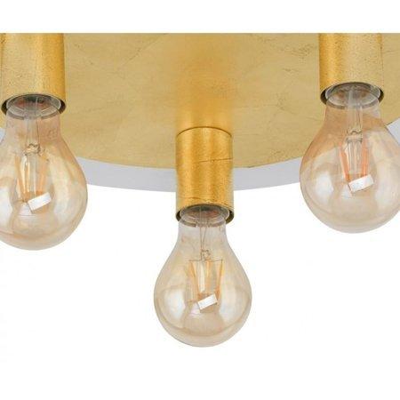 Aufputzlampe Deckenleuchte PASSANO gold 3xE27 4W 3x 320lm 2200K 97492 EGLO
