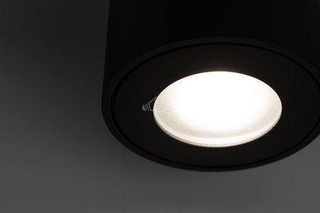 Badezimmer- Deckenleuchte Deckenspot KLARS Black IP44 GU10 schwarz EDO777339 EDO