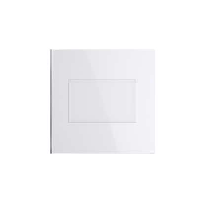 Blindverschluss für Rahmen mit Steckbefestigung weiß glänzend Simon 54 Premium Kontakt Simon DP/11