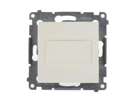 Blindverschluss mit Zentralstück für Rahmen Simon 54 Premium cremeweiß matt Kontakt Simon DPS.01/41