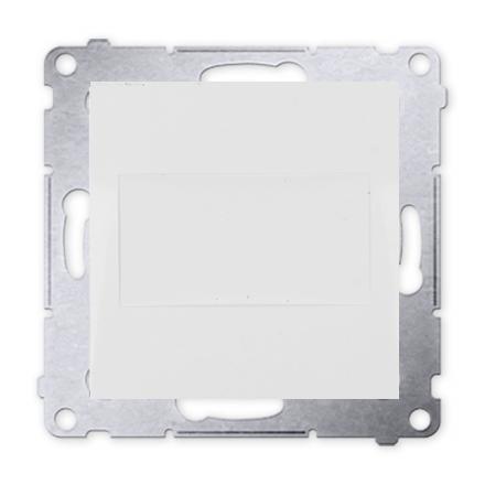 Blindverschluss mit Zentralstück für Rahmen Simon 54 Premium weiß Kontakt Simon DPS.01/11