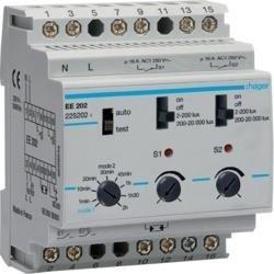 Dämmerungsschalter 2 Kanäle 20kLux Komfort Hager EE202