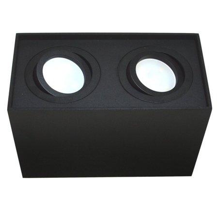 Deckenleuchte Deckenspot 2xGU10 dekorativ schwarz eckig