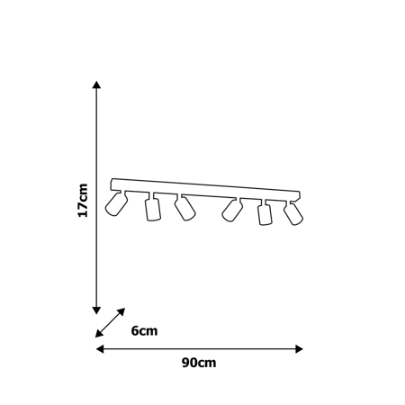 Deckenleuchte weiß JOKER 6xGU10 Milagro MLP908