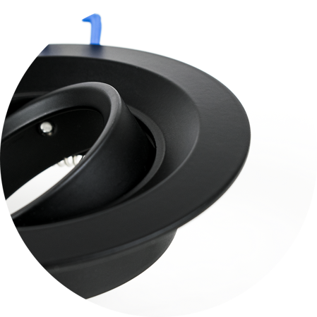 Deckenstrahler Einbaustrahler IRID BLACK rund weiß EDO777136 EDO