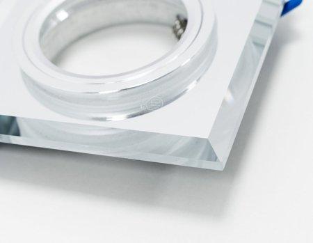 Deckenstrahler Einbaustrahler aus Glas dekorativ silber eckig