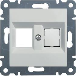 Doppelplatte Keystone Jack, weiß WL2320 Lumina Hager