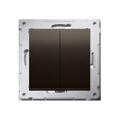Doppeltaster ohne Aufdruck Steckklemmen Braun matt Simon 54 Premium Kontakt Simon DP2.01/46