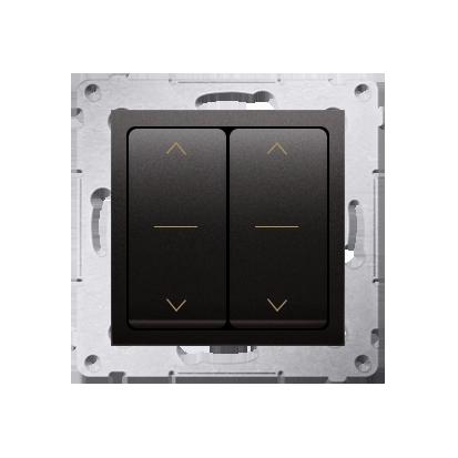 Doppelter Jalousie-Schalter Modul und Aufdruck Anthrazit (1-0-2) Kontakt Simon 54 Premium DZW2.01/48