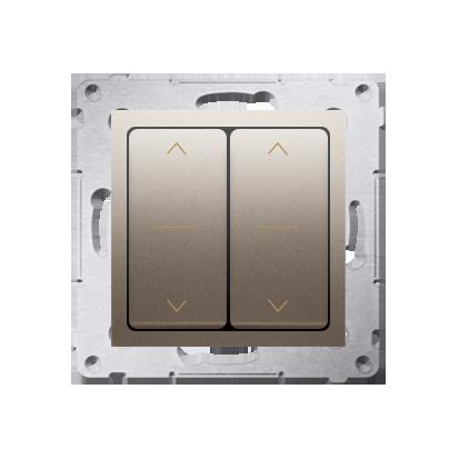 Doppelter Jalousie-Schalter (Modul) und Aufdruck Gold (1-0-2) Kontakt Simon 54 Premium DZW2.01/44