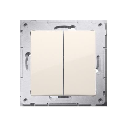 Doppelter Kerzenschalter (Modul) IP44 Cremeweiß Kontakt Simon 54 Premium DW5B.01/41