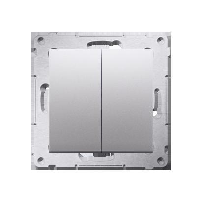 Doppelter Kerzenschalter (Modul) IP44 Silber matt Kontakt Simon 54 Premium DW5B.01/43