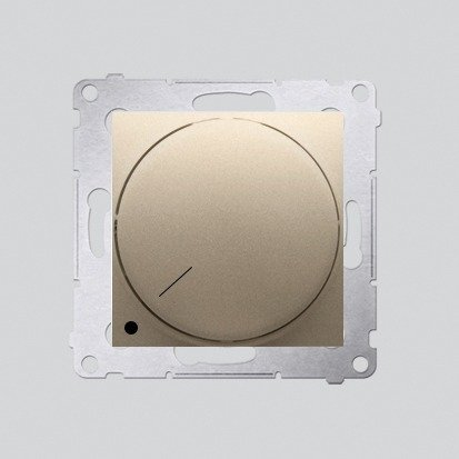 Drehdimmer 2polig für dimmbare LEDs gold matt Simon 54 Premium Kontakt Simon DS9L2.01/44