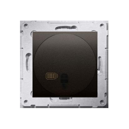 Druckdimmer (Modul) mit Fernbedienung 20- 500W braun matt Simon 54 Premium Kontakt Simon DS13T.01/46