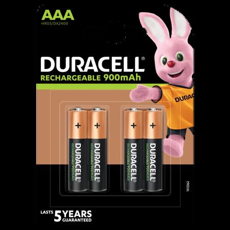 Duracell Rechargeable NiMH Batterie 900mAh   AAA  blister 4 Stück Akku