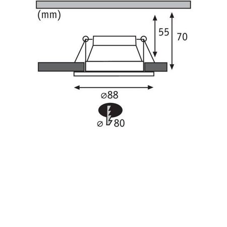 Einbauleuchte dimmbar COLE LED 6,5W 2700K IP44 Schwarz/Gold Paulmann PL93403
