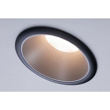 Einbauleuchte dimmbar COLE LED 6,5W 2700K IP44 Schwarz/Silber Paulmann PL93407