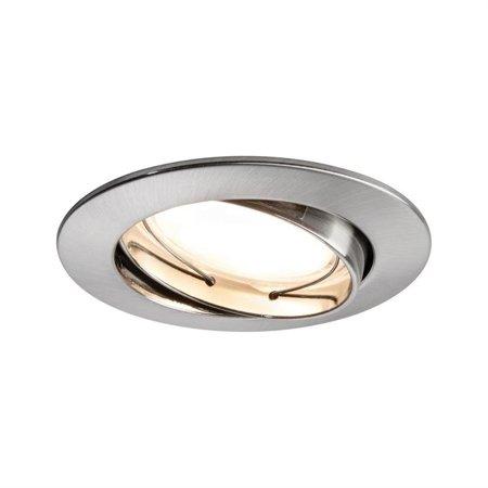 Einbauleuchten Coin dimmbar LED 3x7W 2700K 380lm Eisen gebürstet