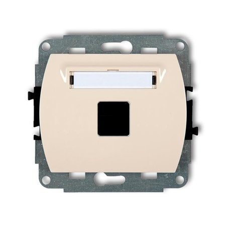 Einzelner Multimedia-Slot-Mechanismus ohne Modul (Keystone-Standard) beige 1GM-1P