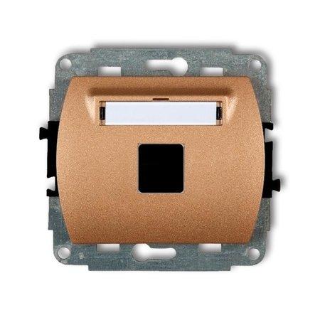Einzelner Multimedia-Slot-Mechanismus ohne Modul (Keystone-Standard) gold 8GM-1P