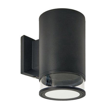 Gartenlampe, Fassaden Außenwandbeleuchtung ANGA 1 BLACK GU10 schwarz IP54 EDO777372 EDO Garden Line