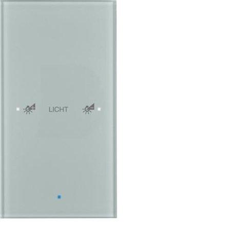 Glas-Sensor 1fach Komfort TS Sensor konfiguriert alu Hager 75141134