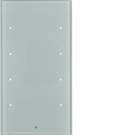 Glas-Sensor 4fach Komfort TS Sensor alu Hager 75144034