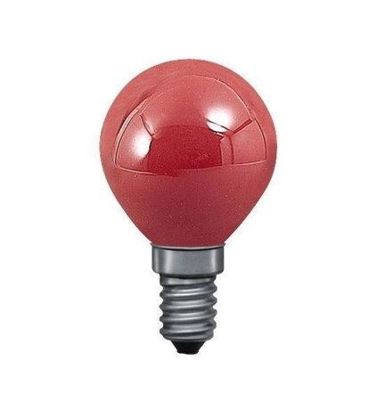 Glühbirne Kugel Rot E14 25W 2lm