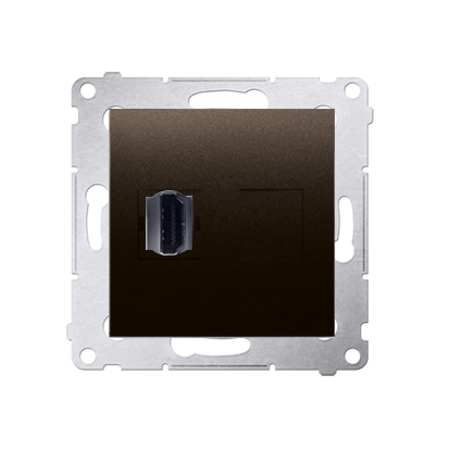 HDMI Anschlussdose Modul-Einsätze 1fach braun matt Simon 54 Premium Kontakt Simon DGHDMI.01/46