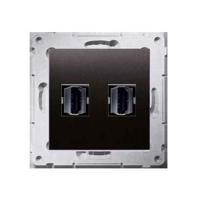 HDMI Anschlussdose Modul-Einsätze 2fach anthrazit matt Simon 54 Premium Kontakt Simon DGHDMI2.01/48