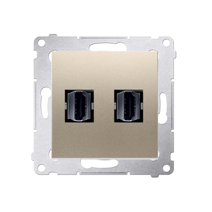 HDMI Anschlussdose Modul-Einsätze 2fach gold matt Simon 54 Premium Kontakt Simon DGHDMI2.01/44