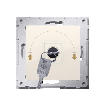 """Jalousie-Schlüsselschalter 1polig """"0-I-II"""" cremeweiß Kontakt Simon 54 Premium DWZK.01/41"""