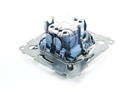 Kerzenschalter (Modul) 2x 1polig Silber mit Steckklemmen Simon 54 Premium Kontakt Simon DW5.01/43