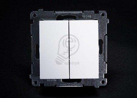 Kerzenschalter (Modul) 2x 1polig weiß mit Steckklemmen Simon 54 Premium Kontakt Simon DW5.01/11