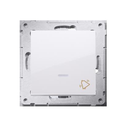Klingeltaster(Modul) mit Aufdruck und LED Weiß Kontakt Simon 54 Premium DD1L.01/11