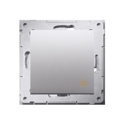 Kreuzschalter (Modul) mit Aufdruck und Silber Kontakt Simon 54 Premium DW7A.01/43