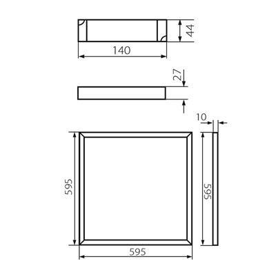 LED Panel 60x60cm Deckenleuchte 36W neutral weiß 4000K 3000lm BAREV LED N 36W-NW Kanlux 31130